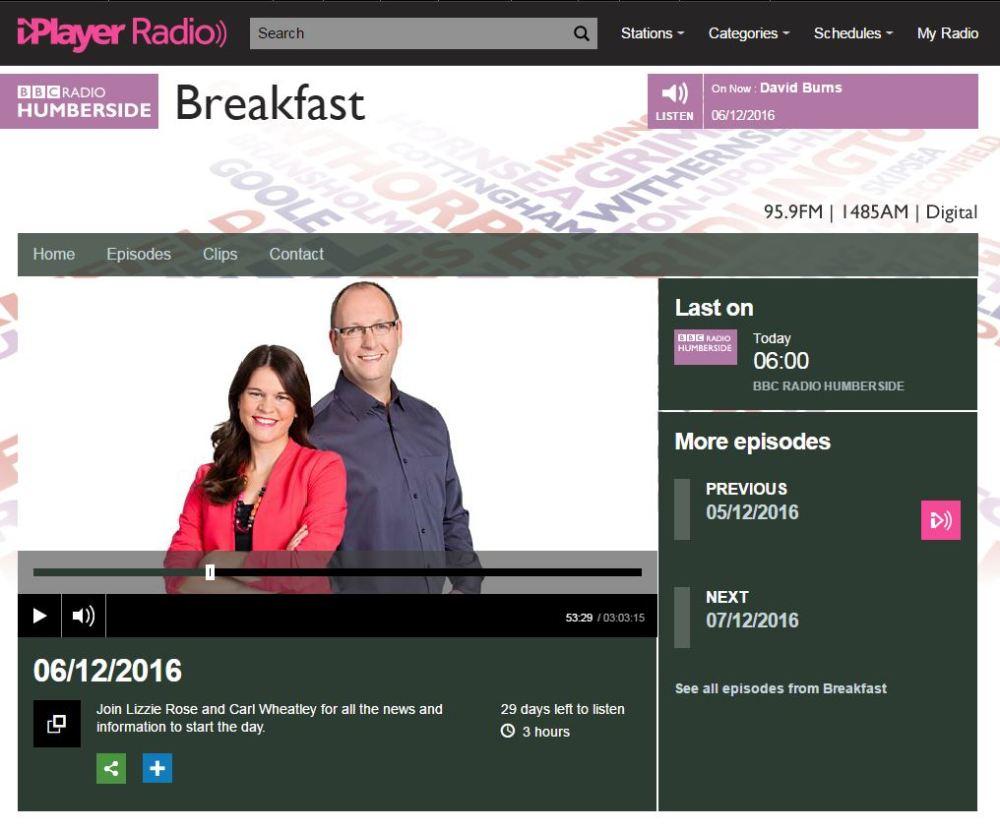 bbc-radio-humberside-simon-h-king-bird-food-haiths