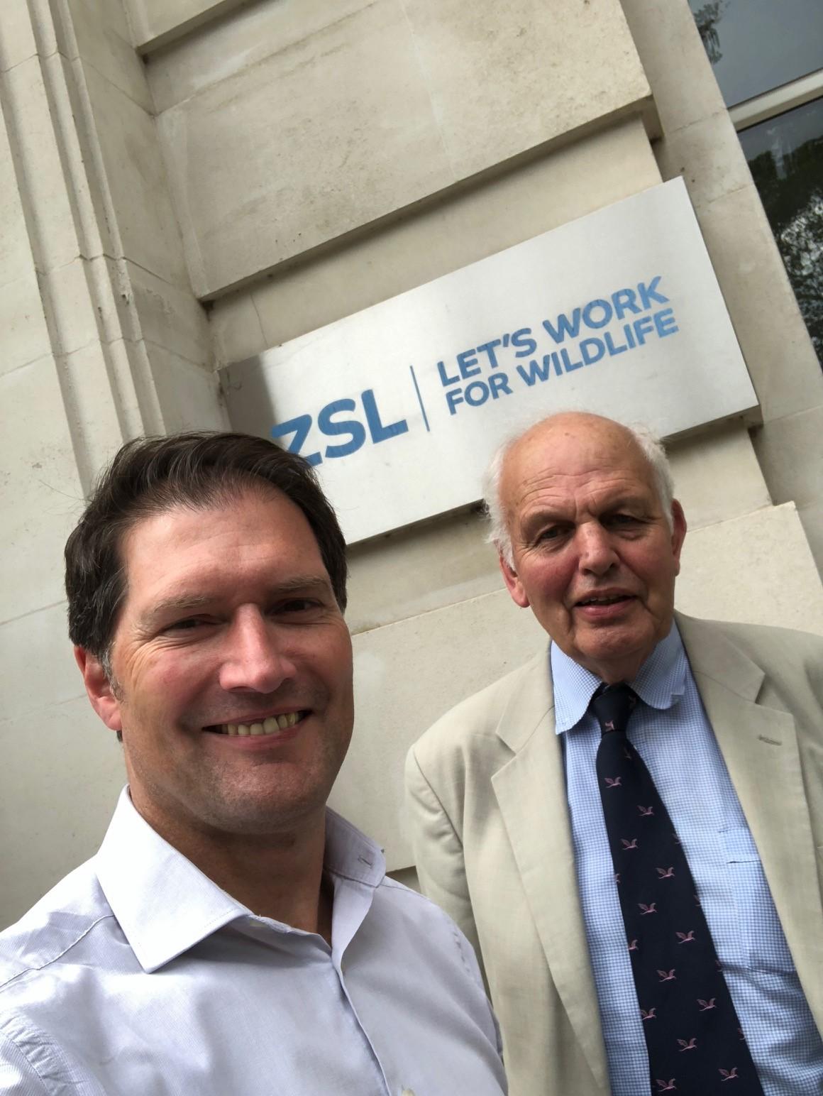 Simon King and Prof. John Cooper at ZSL 2018.JPG