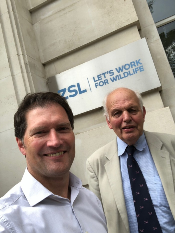Simon King and Prof. John Cooper at ZSL 2018.JPG