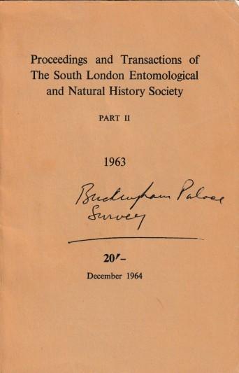 Maxwell Knight Buckingham Palace Survey 1963