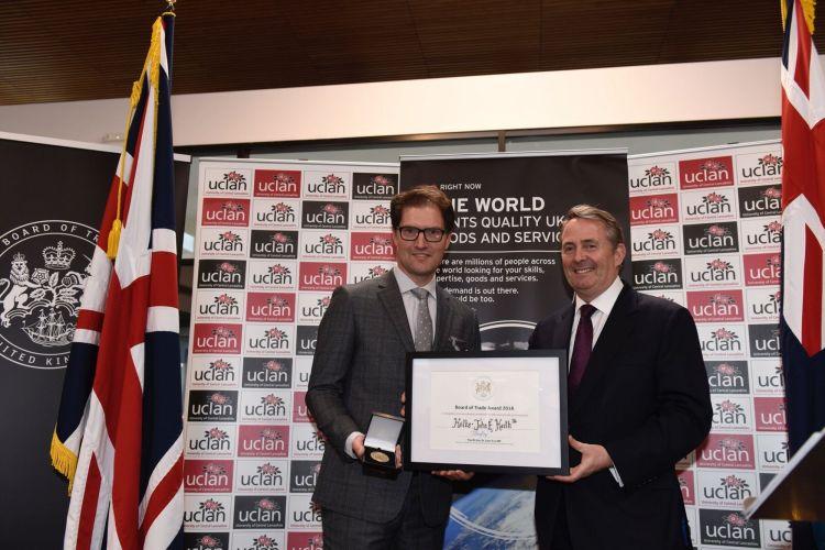 Board of Trade Award Haiths Simon King